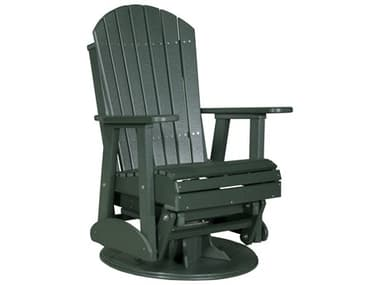 LuxCraft Recycled Plastic 2' Adirondack Swivel Glider Chair LUX2SAPG