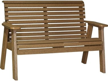 LuxCraft Recycled Plastic 4' Plain Bench LUX4PPB
