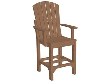 LuxCraft Recycled Plastic Adirondack Counter Height Arm Chair LUXAACCOUNTER