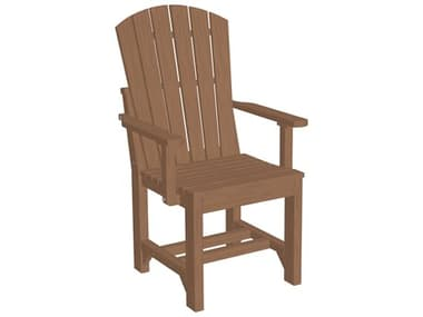 LuxCraft Recycled Plastic Adirondack Dining Height Arm Chair LUXAACDINING