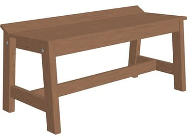 LuxCraft Recycled Plastic Cafe Dining Bench (41) LUXCDB41DINING