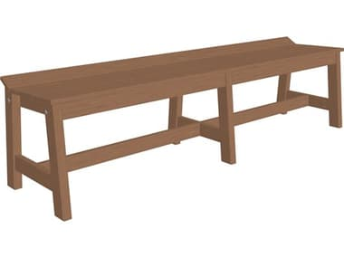 LuxCraft Recycled Plastic Cafe Dining Bench (72) LUXCDB72DINING
