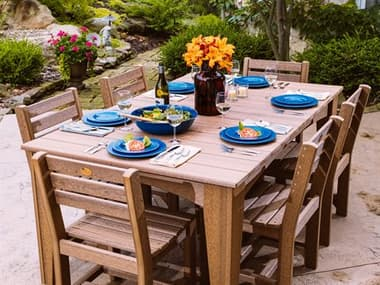 LuxCraft Recycled Plastic Island Table Dining Set LUXDININGSET4