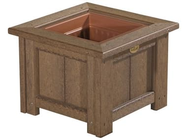 LuxCraft Recycled Plastic 15 Square Planter LUXP15SP