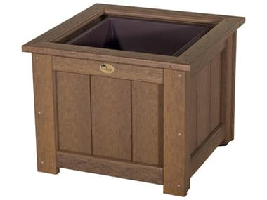 LuxCraft Recycled Plastic 24 Square Planter LUXP24SP