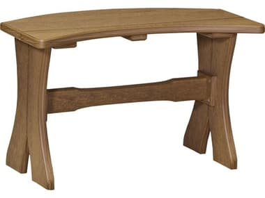 LuxCraft Recycled Plastic 28 Table Bench LUXP28TBDINING