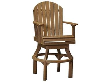 LuxCraft Recycled Plastic Adirondack Swivel Bar Height Chair LUXPASCBAR