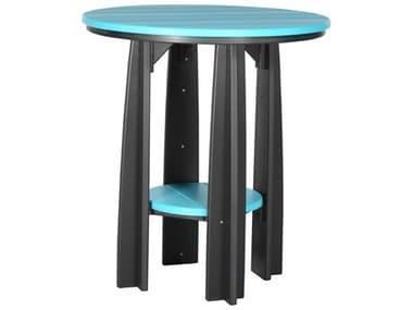 LuxCraft Recycled Plastic 36 Round Balcony Table LUXPBATCOUNTER