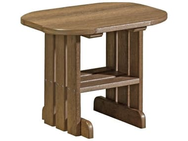 LuxCraft Recycled Plastic 24 x 16.5 Oval End Table LUXPET