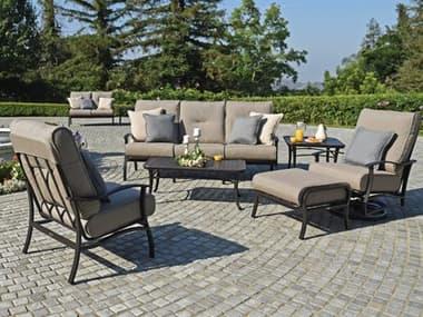 Mallin Albany Aluminum Cushion Lounge Set MALALBNYLNGSET1