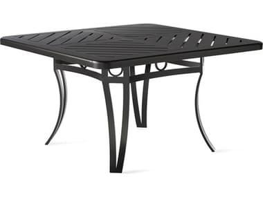 Mallin Salinas Tables F-top 42'' Wide Aluminum Square No Umbrella Hole Chat Table MALBC7142F142