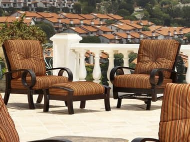 Mallin Eclipse Cast Aluminum Cushion Lounge Set MALECLPSELNGSET1