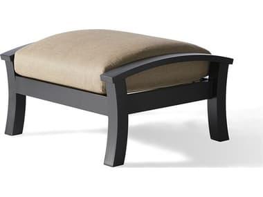 Mallin Eclipse Cast Aluminum Cushion Ottoman MALEP488