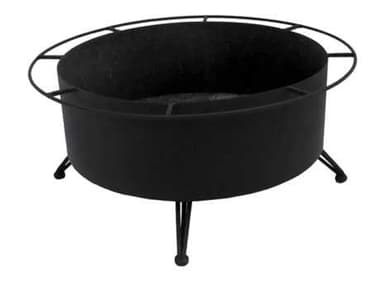 Meadowcraft Wrought Iron 42'' Wide Round Large Wood Burning Fire Pit MD313860001