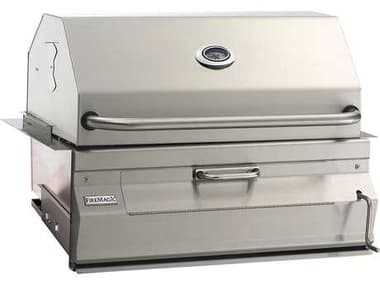 Fire Magic Charcoal Stainless Steel 30'' Built-in BBQ Grill with Smoker Oven Hood MG14SC01CA