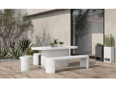 Moe's Home Outdoor Concrete Dining Set MHOJK100129SET