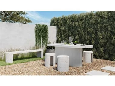 Moe's Home Outdoor Concrete Dining Set MHOJK100129SET2