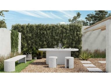 Moe's Home Outdoor Concrete Dining Set MHOJK100129SET3