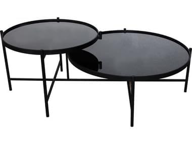 Moe's Home Outdoor Black 48'' Wide Iron Coffee Table MHOKK102402
