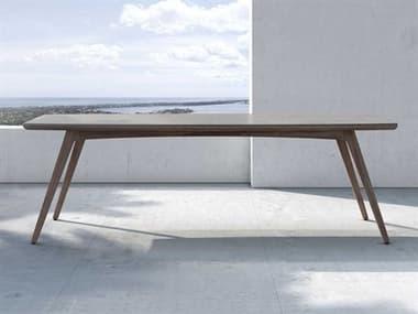 Modloft Outdoor Liam Weathered Eucalyptus 94'' Wide Wood Rectangular Dining Table MLODECARM240ADGRY