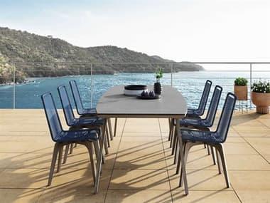 Modloft Outdoor Liam Wood Dining Set MLODECARM240ADGRYSET2