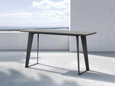 Modloft Outdoor Amsterdam Gray Concrete 59'' Wide Steel Rectangular Console Table MLODEGHT114COD