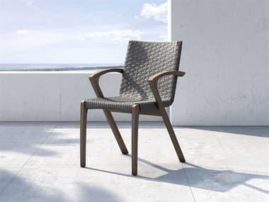 Modloft Outdoor Verge Shades Of Gray Cord Dining Arm Chair MLODELOPADSHG