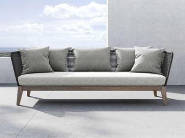 Modloft Outdoor Netta Feather Gray Cushion Sofa MLODEPX2SADLTEGRA