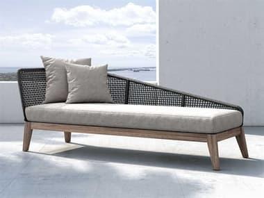 Modloft Outdoor Netta Feather Gray Cushion Right Chaise Lounge MLODEPXDYRADLTEGRA