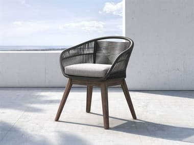 Modloft Outdoor Jesper Dark Gray Cord Dining Arm Chair MLOTRUCHRADGRALTE