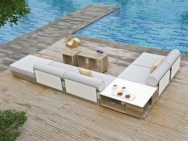 Mamagreen Aiko Teak Cushion Lounge Set MMGAIK01SET2