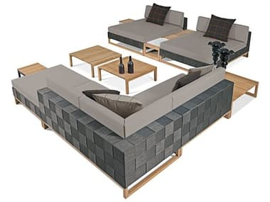 Mamagreen Ekka Teak Wicker Cushion Lounge Set MMGMG2807SET2