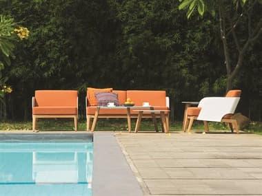 Mamagreen Kaat Teak Cushion Lounge Set MMGMG2901SET2