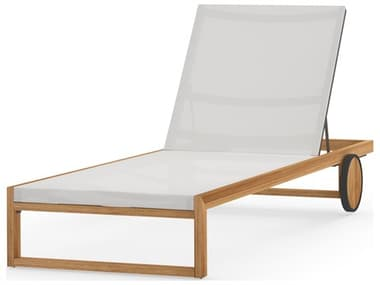 Mamagreen Ekka Teak Sling Chaise Lounge MMGMG3401