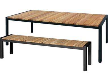 Mamagreen Zudu 86'' Wide Aluminum Steel Rectangular Dining Table MMGMG6400