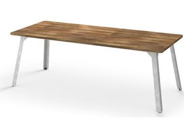 Mamagreen Industrial Aluminum 86''W x 35''D Rectangular Dining Table MMGMI17