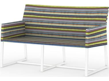 Mamagreen Stripe Aluminum Cushion Loveseat MMGMS33