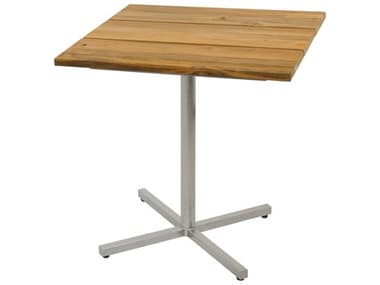 Mamagreen Oko 29'' Wide Steel Square Bistro Table MMGOD75C73