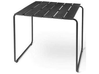 Mater Outdoor Ocean Black 27'' Wide Recycled Plastic Square Dining Table MTO09311
