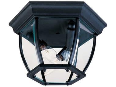 Maxim Lighting Maxim Black Three-Light Outdoor Ceiling Light MX1029BK
