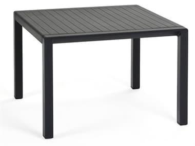 Nardi Aria Fiberglass Resin Antracite 23'' Wide Square Side Table NAR40051.02.000