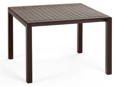 Nardi Aria Fiberglass Resin Caffe 23'' Wide Square Side Table NAR40051.05.000