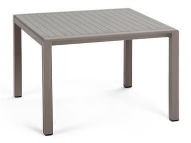 Nardi Aria Fiberglass Resin Tortora 23'' Wide Square Side Table NAR40051.10.000