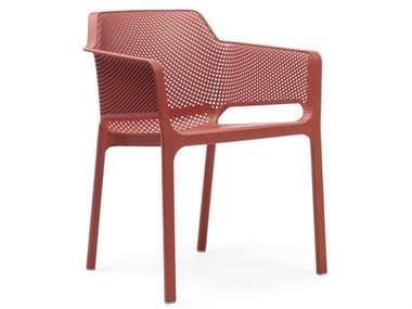 Nardi NET Fiberglass Resin Corallo Stackable Dining Arm Chair NAR40236.75.000