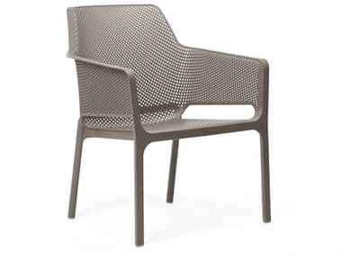 Nardi NET Relax Fiberglass Resin Tortora Stackable Lounge Chair NAR4032710000