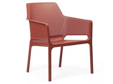 Nardi NET Relax Fiberglass Resin Corallo Stackable Lounge Chair NAR4032775000