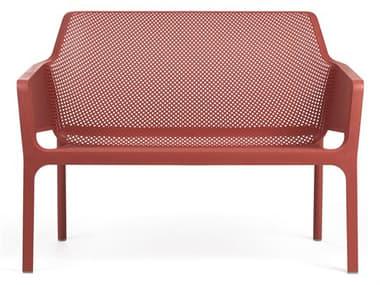 Nardi NET Fiberglass Resin Corallo Stackable Bench NAR40338.75.000