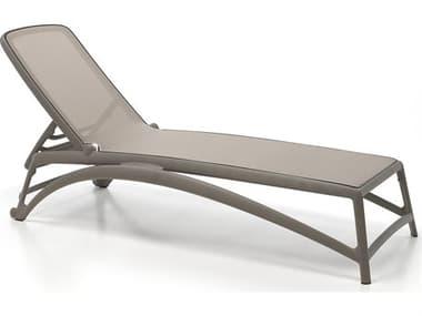 Nardi Atlantico Sling Fiberglass Resin Tortora Stackable Chaise Lounge NAR40450.10.104