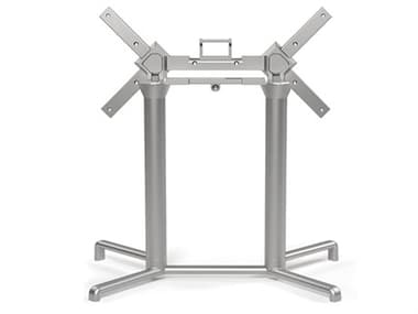 Nardi Scudo Aluminum Argento Double Tilting Top Table Base NAR54354.00.000