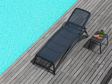 Nardi Atlantico Sling Fiberglass Resin Antracite Lounge Set NARATLNTCOLNGSET10